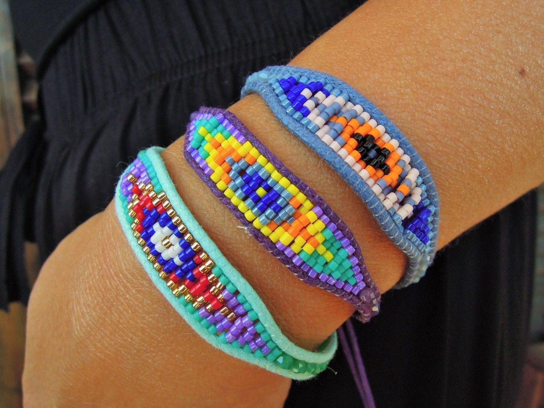 woven beaded bracelet woven braided bracelets bohemian