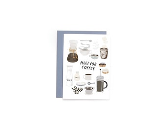 Meet for Coffee A6 Card