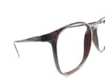 NICE!  Vintage Mens Brown Tourtoise Hornrim Eyeglasses Eyewear Frame NOS