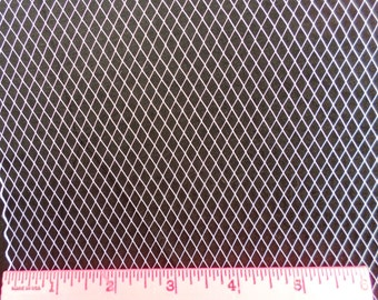 WHITE 1 yard fine French netting - 9-inch wide, for DIY birdcage veils, fascinators