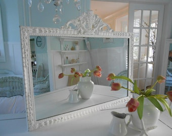 mirror shabby chic white antique painted furniture