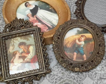 VINTAGE ITALIAN picture frame collection of four smaller frames