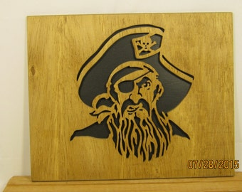 PIRATE HEAD Scroll Saw PLAQUE