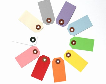 100 Little Parcel Tags - Assorted Mix