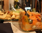 One Upcycled Patron Tequila Bottle Bowl