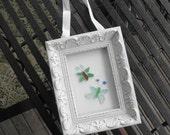 Beach Glass Butterfly Framed Art Lake Erie Ohio