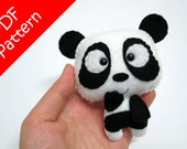 Panda Plush PDF Pattern -Instant Digital Download