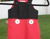 Ready to Ship! Size 2T Boy's Mickey Mouse jon jon shortall outfit for Disney, Costume, Party, or Photo Prop