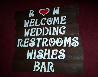 Bathroom Sign Game lawn game sign rustic wedding sign / game signs corn hole