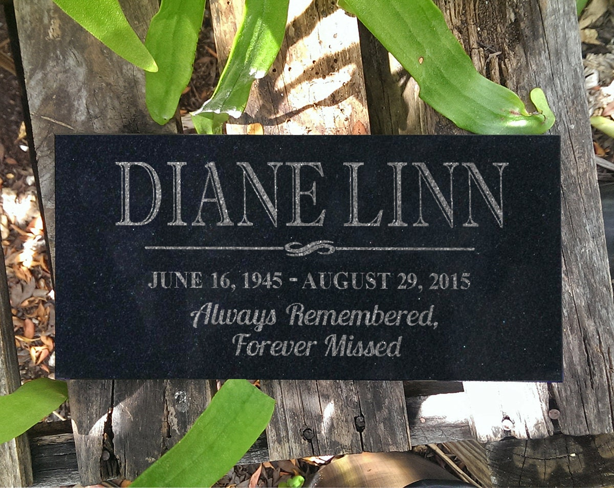 Personalized Memorial Granite Stone Grave Marker Engraved In