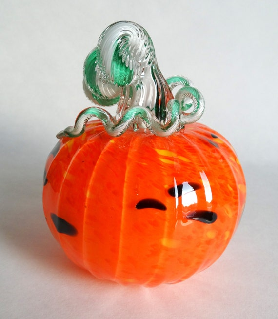 Hand Blown Glass Pumpkin Decoration
