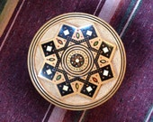 vintage. Rare Carved Wooden Box // Engraved Wood Box