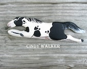 """Custom Horse Portrait - 6"""" Wild Weaving Shuttle for Card Tablet Inkle Band or Backstrap Loom"""
