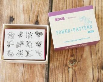 FLOWER Pattern Ppappappiyo DIY stamps set