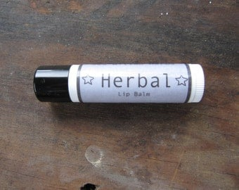 Herbal Lip Balm - Unscented - with Plantain, Chickweed and Calendula Oils - Tube