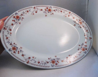 Dynasty Fine China Copenhagen Oval Platter 12""