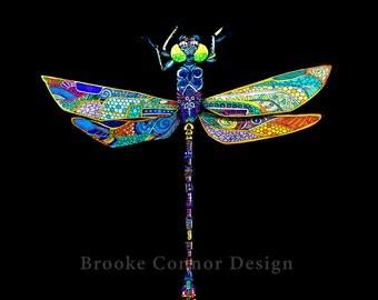 Dragonfly on Black