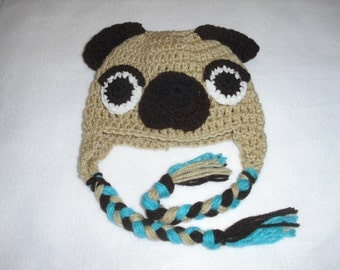 Pug Baby Boy Hat! Has arrived needs a smiling baby to keep warm!