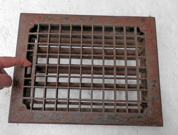 Vintage Cast Iron Floor Register With Louvers 13 7 8 X
