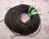10 meters 1.5mm coffee genuine leather cord