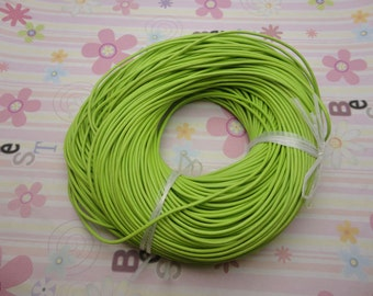10 meters 2.0mm light green genuine leather cord