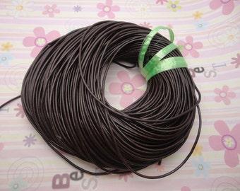 10 meters 2.0mm coffee genuine leather cord