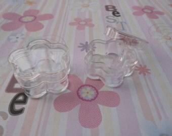 set of 100--mini clear plastic box--square shape plastic box--plastic jewelry box--30x30x13mm