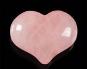 Rose Quartz Heart Polished Gemstone Heart Pocket Gem For Purse Pocket or Tabletop