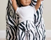 Matching Girl and Doll Clothes. American Girl Matching Pajama Pant Set for Girl and Doll. Girls Pajamas. Zebra Print. Animal Print
