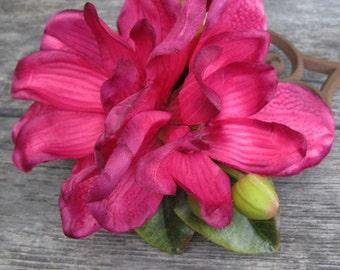 RUBY Two Magnolia hair flowers clip - Wedding-