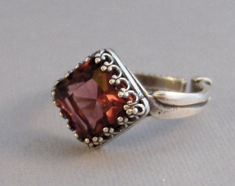 Princess Garnet,Ring,Garnet Ring,Garnet,Red Ring,Red Stone,Red Ring,Bridesmaid,Sapphire Jewelry,Garnet Birthstone,Garnet,Birthstone Ring