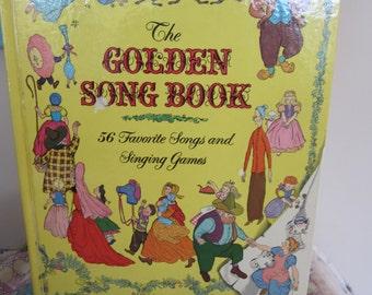 Vintage 1976 The Golden Song Book A Golden Book 56 Favorite Songs