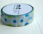 New Autumn 2015 silver background Mt washi tape 15 mm x 10M