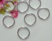 25, 50, 75, 100 pcs, 6mm, 22 gauge Handmade Sterling Silver soldered closed Jump Ring, 6jc22