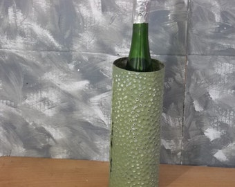 A Little Bit of GREEN?GRAY for this Wine Holder in old tin