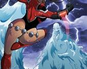 Britannia Issue 2 Boo Cover digital comic book superhero comedy by boo rudetoons