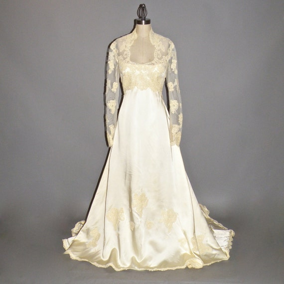 Wedding Dresses Boston: 1970s Wedding Dress Priscilla Of Boston Wedding Gown Satin