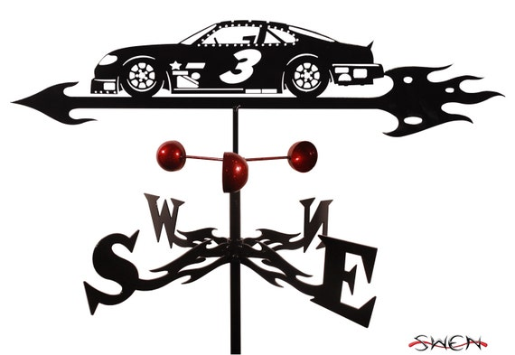 Hand Made FARRELL Stock Car Nascar #3 Auto Racing Weathervane NEW