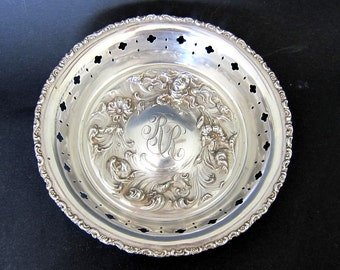 Antique Sterling Silver Repousse  'Art Nouveau Lady ' Deep Bowl by Mauser