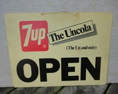 Vintage 7 Up Open Closed Sign