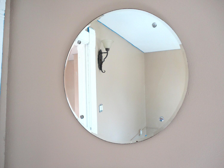 Vintage frameless beveled mirror for Frameless beveled mirror