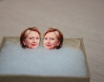 Hillary Clinton Stud Earrings Political Jewelry President 2016 Election