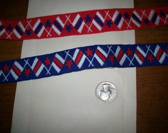 Vintage red ,white, and blue trim