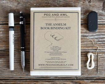 Anselm Bookbinding Kit – 6″ by Peg and Awl, DIY, Journal, Diary, Sketchbook, Notebook, Bookbinding, Sketch a Day, Gifts under 50, tutorial