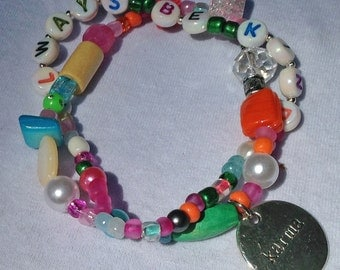 ALWAYS BE KIND-- Inspirational beaded bracelet