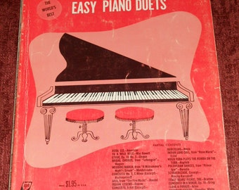 "Vintage Music Book-""The World's Best Easy Piano Duets"" No. 6- Music For Everyone Series"