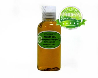 4 Oz Neem Oil 100% Pure Organic UNREFINED Cold Pressed