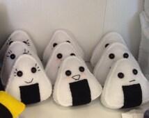 Felt Onigiri Rice Sushi Plush Toy (your choice of one)