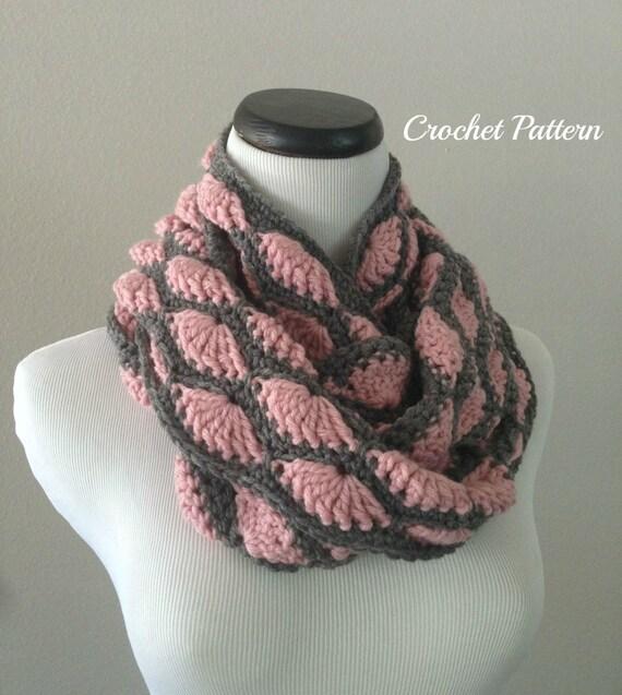 CROCHET PATTERN - Chunky Crochet Infinity Scarf Pattern ...