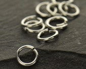6mm 20ga Hard Snap Open Jump Rings - BULK DISCOUNTS, Jewelry Supplies, Findings